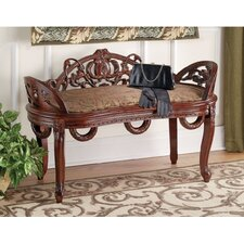 Constance Filigree Wood Garden Bench