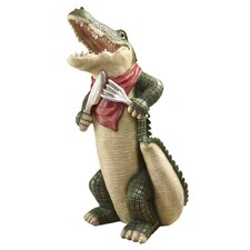 <strong>Design Toscano</strong> The Gator Gourmet Statue