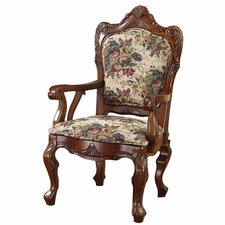 Emily Dickinson Floral Jacquard Fabric Arm Chair