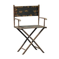 <strong>Design Toscano</strong> Scaled Metal Director's Chair Sculpture