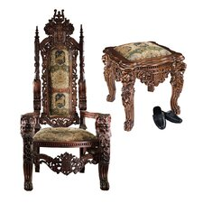 The Lord Raffles Throne Arm Chair and Ottoman