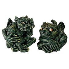 Devilish Gothic Troll 2 Piece Statue Set