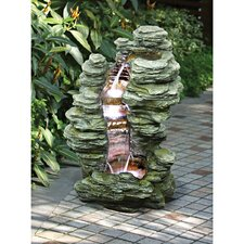 Mineral Point Cascading Resin Garden Fountain
