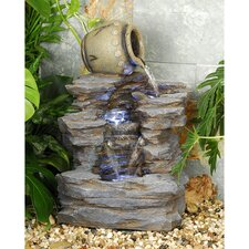 Spilling Jug Resin Cascading Fountain