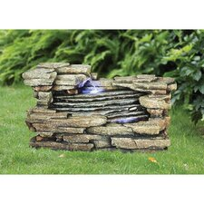 Chestnut Ridge Cascading Resin Garden Fountain