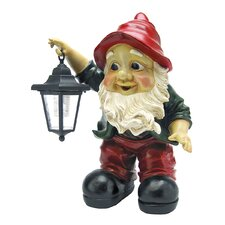 <strong>Design Toscano</strong> Edison with the Lighted Lantern Garden Gnome Statue