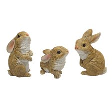 The Bunny Den, Garden Rabbit Statue (Set of 3)