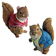 <strong>Design Toscano</strong> Grandparent Squirrel Statue (Set of 2)