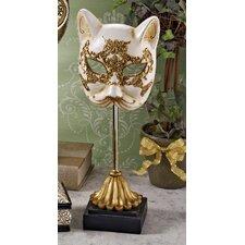Animal Masquerade Venetian Style Gatto Mask Statue