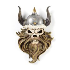 The Skull of Valhalla Viking Warrior Wall Statue