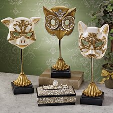 Animal Masquerade Venetian Style Mask Statue (Set of 3)