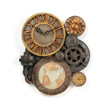 Gears of Time Sculptural Wall Clock