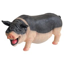 <strong>Design Toscano</strong> Laughing Pig Statue