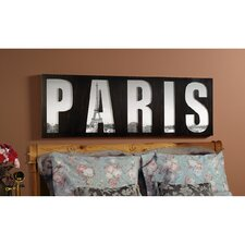 Paris On My Mind Reverse Cut Framed Print
