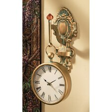 Baroque Medallion Metal Wall Clock
