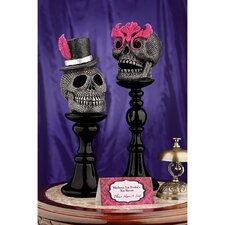 <strong>Design Toscano</strong> Skull-a-Bration Skull Head Statues (Set of 2)
