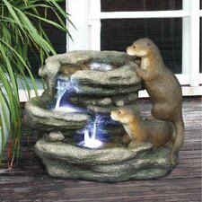 <strong>Design Toscano</strong> Bright Waters Otters Garden Fountain Sculpture