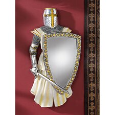 <strong>Design Toscano</strong> Knights Templar Sculptural Wall Mirror
