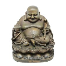 Jolly Hotei and Laughing Buddha Sanctuary Figurine