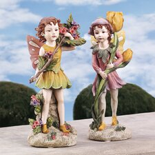 <strong>Design Toscano</strong> Meadow Fairy and Meadow Pixie Garden Statue
