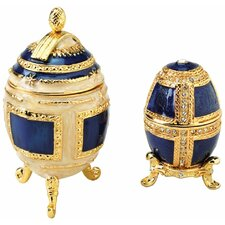 2 Piece Petyr and Anya Collectible Egg Decorative Urn