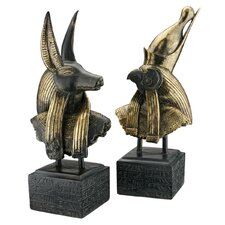 2 Piece Gods of Ancient Egypt Sculpture