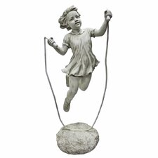 <strong>Design Toscano</strong> Jump Rope Jane, Little Girl Statue