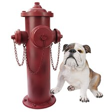 Vintage Fire Hydrant Sculpture