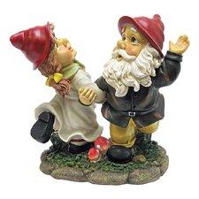 Dancing Duo Gnome Garden Statue