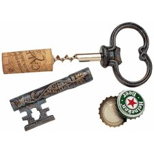 Bishop's Church Key Corkscrew and Bottle Opener (Set of 3)