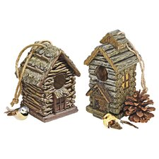 <strong>Design Toscano</strong> Backwoods Hanging Birdhouse (Set of 2)