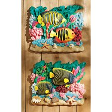 <strong>Design Toscano</strong> 2 Piece The Great Barrier Reef Fish Wall Décor Set