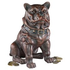 Boss, the Sitting British Bulldog Collectors' Still Action Coin Bank