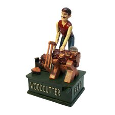 "Recurrent Motion ""Woodcutter"" Mechanical Coin Bank"