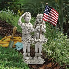 <strong>Design Toscano</strong> Patriotic Flag Children Statue