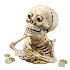 Bugged-Out Hungry Skeleton Mechanical Coin Bank