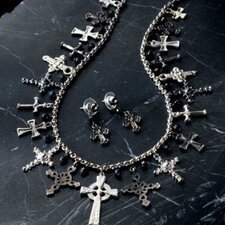Crosses of History Necklace and Earrings Ensemble