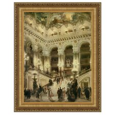 Le Couloir de l'Opera by Jean Beraud Framed Painting Print
