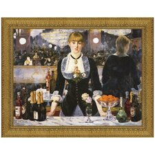 A Bar at the Folies-Bergere, 1882 by Edouard Manet Framed Painting Print