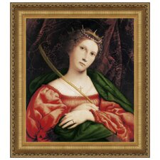 St. Catherine of Alexandria, c. 1523 by Lorenzo Lotto Framed Painting Print