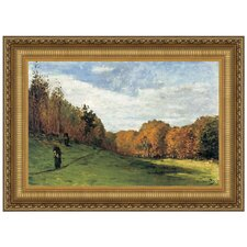 Woodgatherers at the Edge of the Forest, 1863 by Claude Monet Framed Painting Print