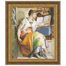 The Erythraean Sibyl, c. 1509 by Michelangelo Buonarroti Framed Painting Print
