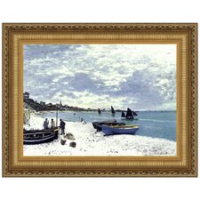Beach at Sainte-Adresse, 1867 by Claude Monet Framed Painting Print