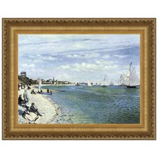 Regatta at Sainte-Adresse, 1867 by Claude Monet Framed Painting Print
