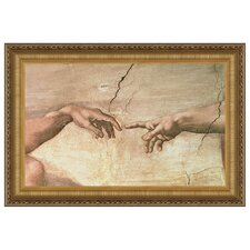 Creation, 1508-1512 by Michelangelo Buonarroti Framed Painting Print