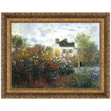 Monet's Garden at Argenteuil (The Dahlias), 1873 Replica Painting Canvas Art