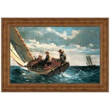 Breezing Up (A Fair Wind), 1876 by Winslow Homer Framed Painting Print