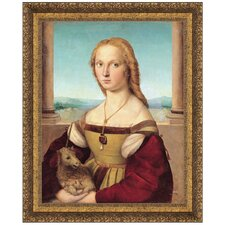 <strong>Design Toscano</strong> Young Woman with Unicorn, 1506 Replica Painting Canvas Art