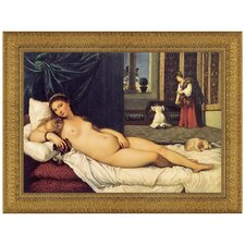 The Venus of Urbino, 1538 by Titian Framed Painting Print