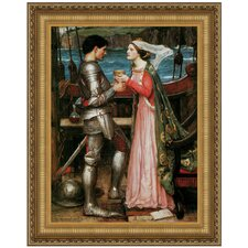 Tristan and Isolde Sharing the Potion, 1916 by John William Waterhouse Framed Painting Print